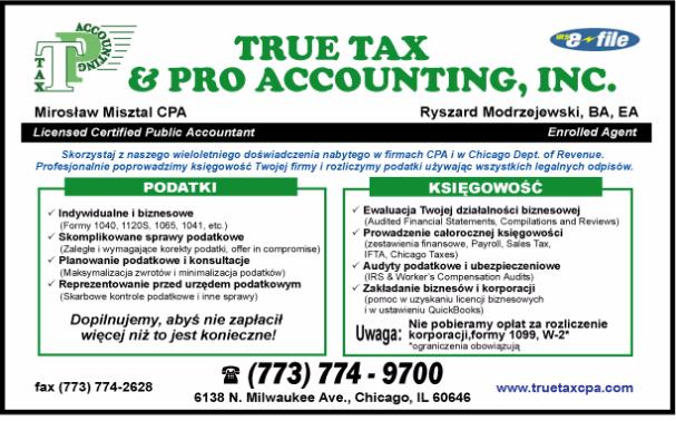 Mowing po Polsku. Podatki. Zakladanie biznesow. Rozliczanie podatkow Chicago. Sprawy Podatkowe. Urzad pdatkowy.